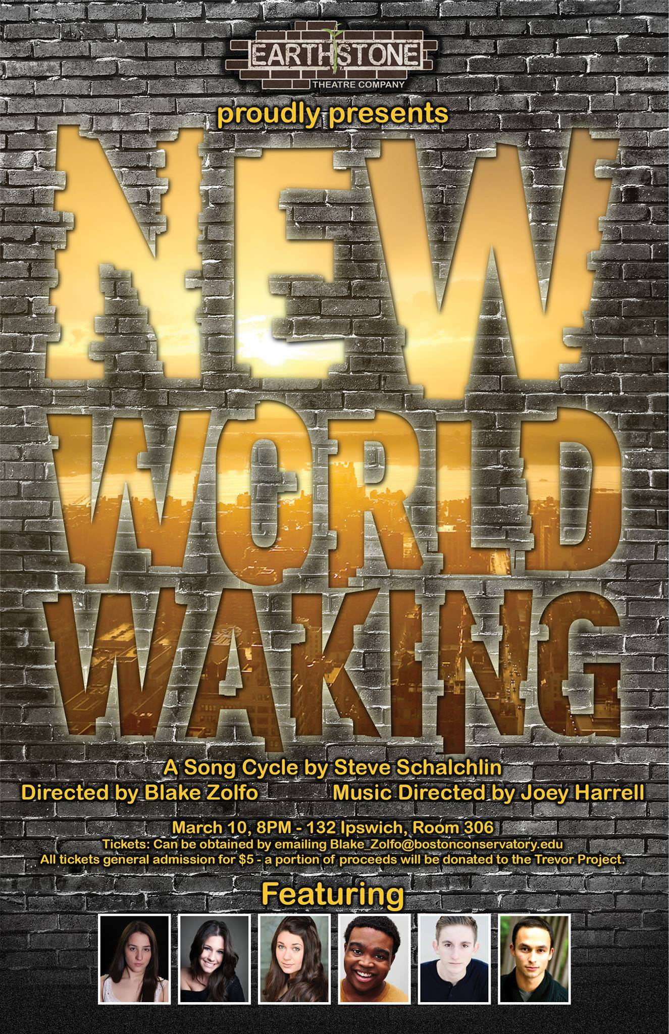 New World Waking brick wall graphic.